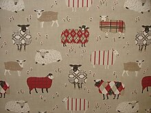 SMD iLiv Baa Baa Schaf Peony Baumwolle Vorhang