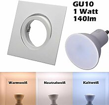 SMD LED Einbaustrahler 230 Volt 1,5W GU10 Set