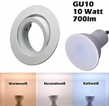 SMD LED Einbaustrahler 230 Volt 10W GU10 Decken