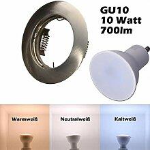 SMD LED Einbaustrahler 230 Volt 10W GU10 Einbau