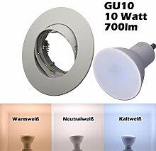 SMD LED Einbaustrahler 230 Volt 10W GU10 Lampe
