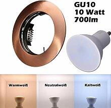 SMD LED Einbaustrahler 230 Volt 10W GU10 Set