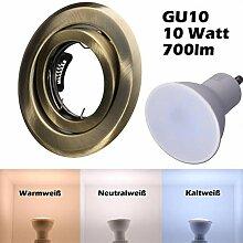 SMD LED Einbaustrahler 230 Volt 10W GU10 Spot