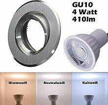 SMD LED Einbaustrahler 230 Volt 4w 38° GU10