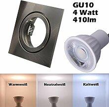 SMD LED Einbaustrahler 230 Volt 4w 38° GU10 Lampe