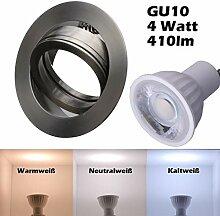 SMD LED Einbaustrahler 230 Volt 4w 38° GU10 Set
