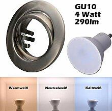 SMD LED Einbaustrahler 230 Volt 4W GU10 Set