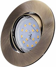 SMD LED Einbaustrahler 230 Volt 5W SMD flach step