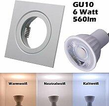 SMD LED Einbaustrahler 230 Volt 6w 38° GU10