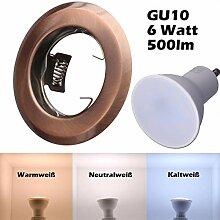 SMD LED Einbaustrahler 230 Volt 6W GU10 Lampe