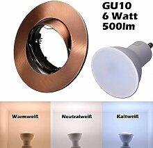 SMD LED Einbaustrahler 230 Volt 6W GU10 Spot