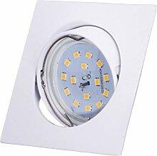 SMD LED Einbaustrahler 230 Volt 7W SMD flach step