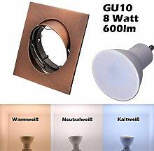 SMD LED Einbaustrahler 230 Volt 8W GU10 Decken