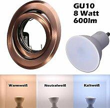SMD LED Einbaustrahler 230 Volt 8W GU10 Einbau
