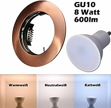 SMD LED Einbaustrahler 230 Volt 8W GU10 Lampe