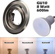 SMD LED Einbaustrahler 230 Volt 8W GU10 Set