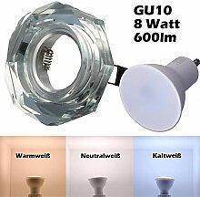 SMD LED Einbaustrahler 230 Volt 8W GU10 Spot
