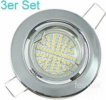 SMD LED Einbaustrahler 3er Sets Einbauleuchten