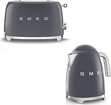 Smeg - Set Wasserkocher und Toaster - Anthrazit
