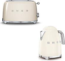 Smeg - Set Wasserkocher und Toaster - Creme