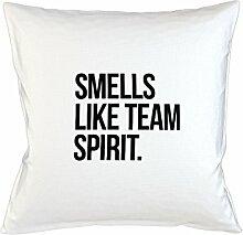 Smells Like Team Spirit Teamwork Colleague Kissenbezug Haus Sofa Bett Dekor Weiß