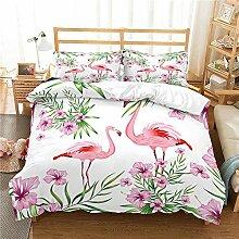 Smile Bettwäsche Bettbezug Anzug Flamingo Print