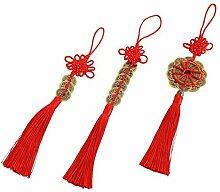 Smile kaufen Chinese Red enless Knoten Feng Shui Glück Münzen für Reichtum und Glück–3