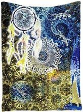 Smile YKK 200*148cm Geblümt Tapestry Zimmer Dekoration Wandteppich Mandala-Wandbehang Tapisserie Bilder# B