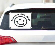 Smiley Autoaufkleber, Have a nice day Sticker, JDM