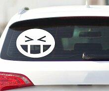 Smiley Autoaufkleber, Shocker Aufkleber Auto Bike Design Sticker Tattoo 2H326, Breite vom Motiv:45cm