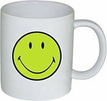 SMILEY Henkelbecher, 35 cl, grün/weiss