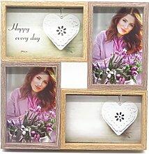 Smiling Art Bilderrahmen Fotorahmen Collage für 4