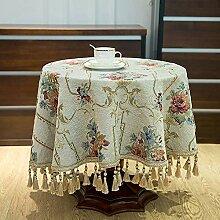 SMILINGGIRL Tischdecke Runder Tisch Europäischer