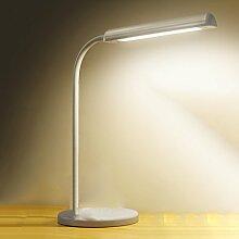 SMILR LED Schreibtischlampe Augenschutz lernen Schreibtischlampe, verstellbare Büroleuchte mit USB-Ladeanschluss, Touch-Steuerung, 5-Farben-Modus, 5 Dateien Helligkeit, weiß