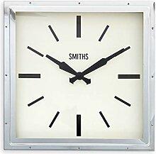 Smiths Wanduhr, rechteckig, Chrom