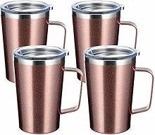 SMLIXE Edelstahl-Kaffeebecher mit Griff und