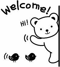 SMNCNL Wandhalterung Tier Bären Willkommen bei Tür's Schlafzimmer Wohnzimmer Shop Home Decor Poster Schaufenster Kinderzimmer baby