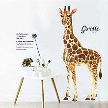 Smntt Giraffe Wandaufkleber Aquarell Druck