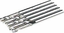 SMO 5x 4 mm HartmetallCNC-Fräser-Spitzen Eine einzelne Flöte Werkzeuge Schaftfräser 22mm