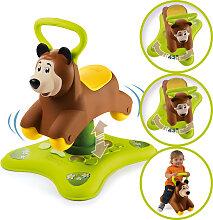 Smoby 2in1 Hoppelbär Rutscher und Hüpftier [Kinderspielzeug]