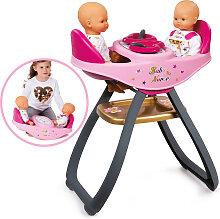Smoby Baby Nurse Zwillingspuppen-Hochstuhl und
