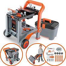 Smoby Black & Decker 3in1 Multi-Werkbank und Werkzeugkoffer [Kinderspielzeug]