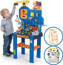 Smoby Bob der Baumeister Werkbank-Center mit Kran [Kinderspielzeug]