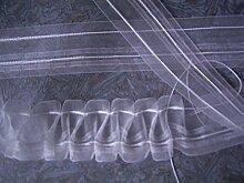 Smokband 1:3 fach transparent 11 Meter Gardinenband