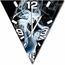Smoke, Design Wanduhr aus Alu Dibond zum Aufhängen, 30 cm Durchmesser, schmale Zeiger, schöne und moderne Wand Dekoration, mit qualitativem Quartz Uhrwerk