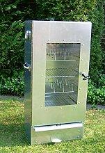 SMOKI- Räucherofen 85x39x33cm aus FAL-Stahlblech mit Scheibe