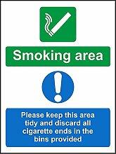 Smoking Area Bitte Keep This Gebiet geben