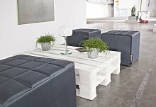 Smoothy CUBE Sitzwürfel Sitzhocker Hocker aus Hightech Nylon gepolstert in Schiefer-Grau