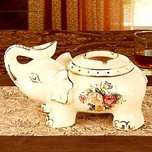 SMQ Aschenbecher Neu Keramik Elefant europäischen