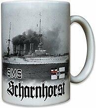 Sms Scharnhorst Schiff Schlachtschiff Großer Kreuzer Panzerkreuzer Wk Fahne Flaggschiff Ostasiengeschwader - Tasse Kaffee Becher #8003